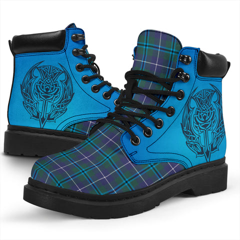 Douglas Modern Tartan All-Season Boots - Celtic Thistle TH8