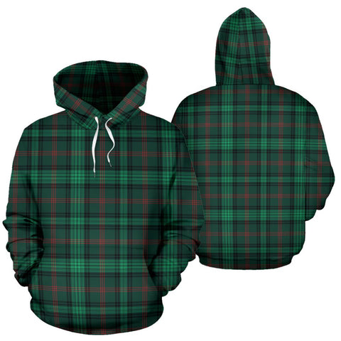 Ross Hunting Modern Tartan Hoodie, Scottish Ross Hunting Modern Plaid Pullover Hoodie