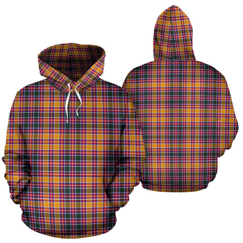 Image of Jacobite Tartan Hoodie, Scottish Jacobite Plaid Pullover Hoodie