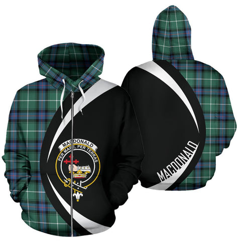MacDonald of the Isles Hunting Ancient Tartan Circle Zip Hoodie HJ4