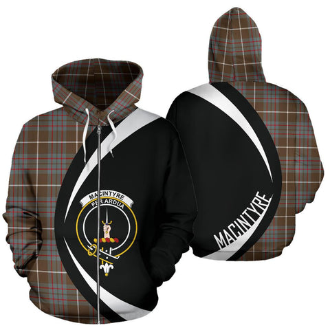 MacIntyre Hunting Weathered Tartan Circle Zip Hoodie HJ4