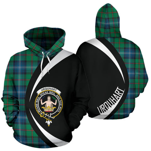 Image of Urquhart Ancient Tartan Circle Hoodie HJ4