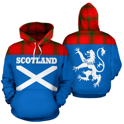 Image of Tartan All Over Hoodie - Lion MacDonald of Sleat