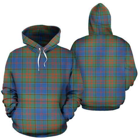 Image of Stewart Of Appin Hunting Ancient Tartan Hoodie, Scottish Stewart Of Appin Hunting Ancient Plaid Pullover Hoodie