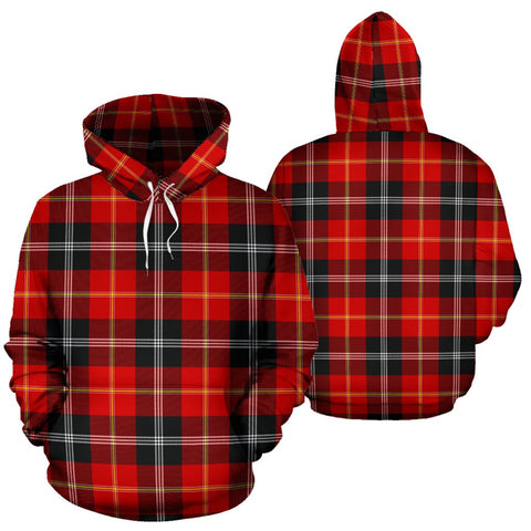 Image of Marjoribanks Tartan Hoodie, Scottish Marjoribanks Plaid Pullover Hoodie