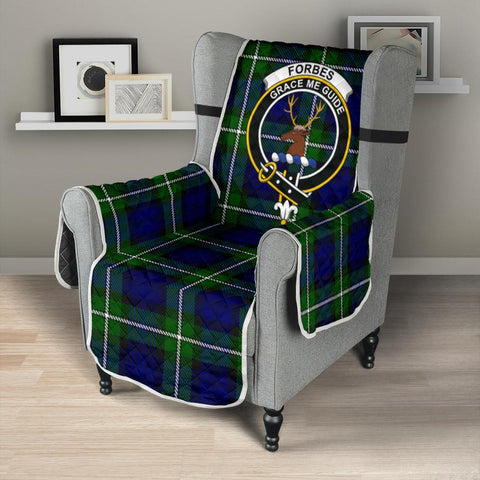 Image of Forbes Modern Tartan Clan Badge Sofa Protector K7