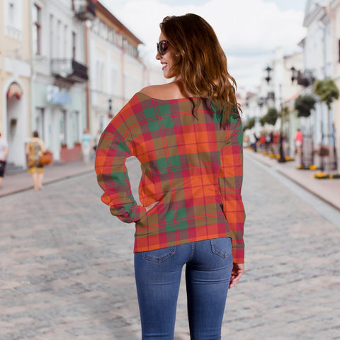 Tartan Womens Off Shoulder Sweater - MacNab Ancient - BN
