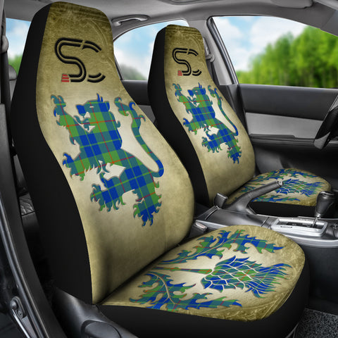 Barclay Hunting Ancient Tartan Car Seat Cover Lion and Thistle Special Style TH8