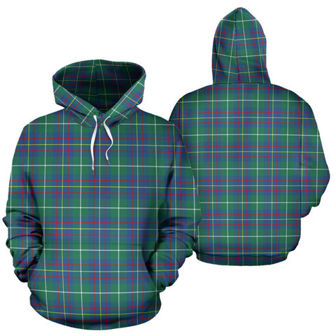 Inglis Ancient Tartan Hoodie, Scottish Inglis Ancient Plaid Pullover Hoodie
