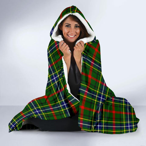 Image of Bisset Clans Tartan Hooded Blanket - BN