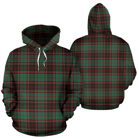 Buchan Ancient Tartan Hoodie, Scottish Buchan Ancient Plaid Pullover Hoodie