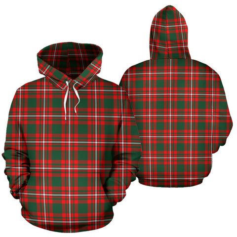 Princess Margaret Tartan Hoodie, Scottish Princess Margaret Plaid Pullover Hoodie