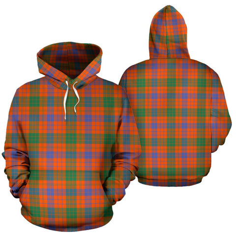 Ross Ancient Tartan Hoodie, Scottish Ross Ancient Plaid Pullover Hoodie