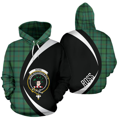 Image of Ross Hunting Ancient Tartan Circle Hoodie HJ4