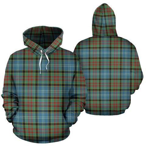 Paisley District Tartan Hoodie, Scottish Paisley District Plaid Pullover Hoodie