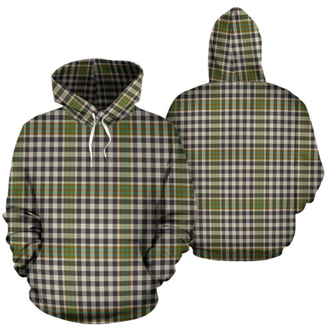 Burns Check Tartan Hoodie, Scottish Burns Check Plaid Pullover Hoodie