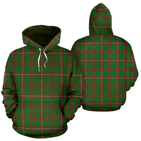 Image of Mackinnon Hunting Modern Tartan Hoodie, Scottish Mackinnon Hunting Modern Plaid Pullover Hoodie