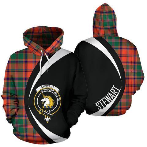 Stewart of Appin Ancient Tartan Circle Hoodie HJ4