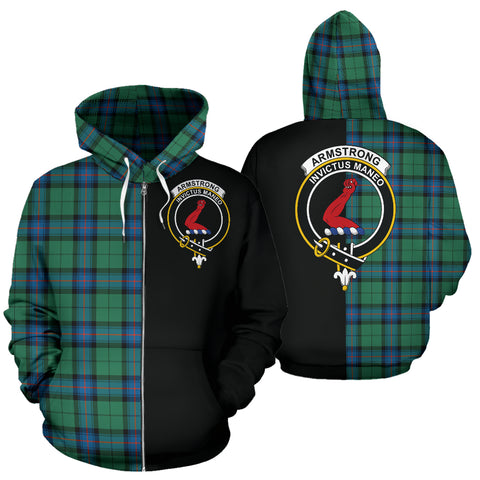 Armstrong Ancient Tartan Hoodie Half Of Me TH8