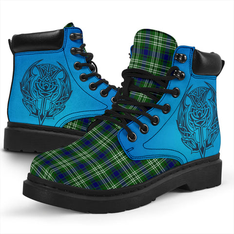 Tweedside District Tartan All-Season Boots - Celtic Thistle TH8