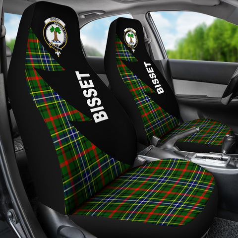Bisset Clans Tartan Car Seat Covers - Flash Style - BN