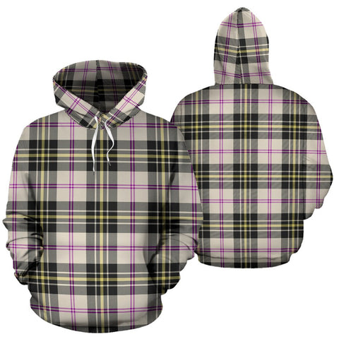 Macpherson Dress Ancient Tartan Hoodie, Scottish Macpherson Dress Ancient Plaid Pullover Hoodie