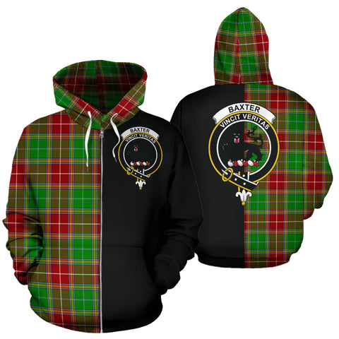 Image of Baxter Modern Tartan Hoodie Half Of Me TH8