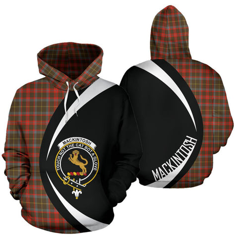 MacKintosh Hunting Weathered Tartan Circle Hoodie HJ4