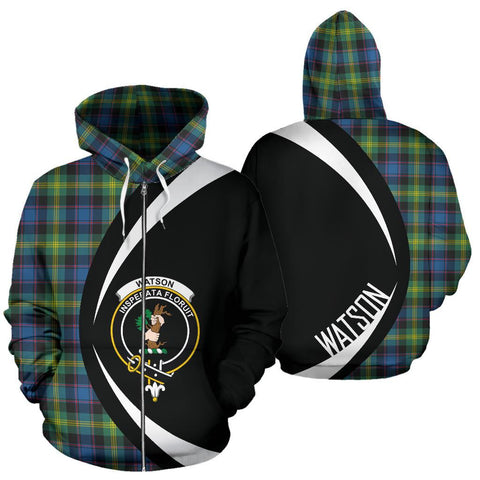 Image of Watson Ancient Tartan Circle Zip Hoodie HJ4