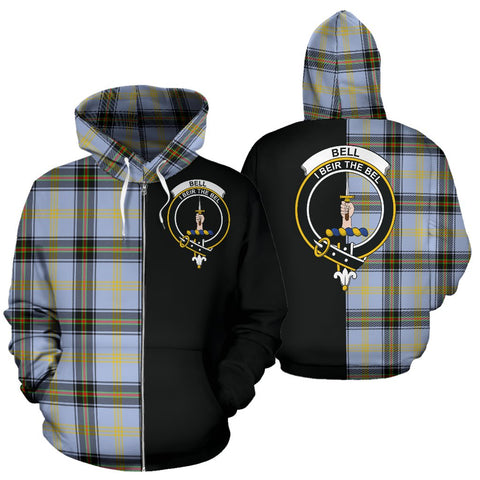 (Custom your text) Bell of the Borders Tartan Hoodie Half Of Me TH8