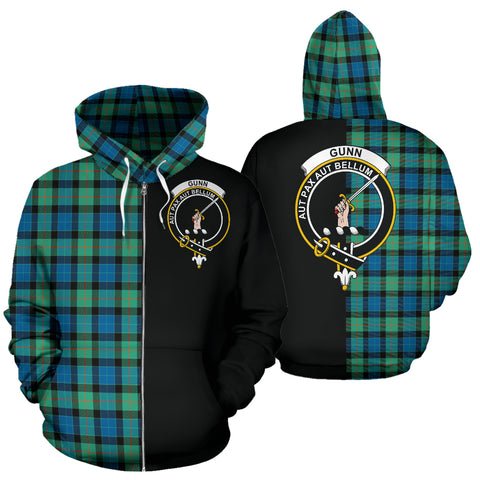 Image of Gunn Ancient Tartan Hoodie Half Of Me TH8