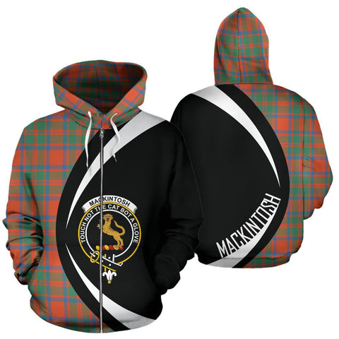 MacKintosh Ancient Tartan Circle Zip Hoodie HJ4