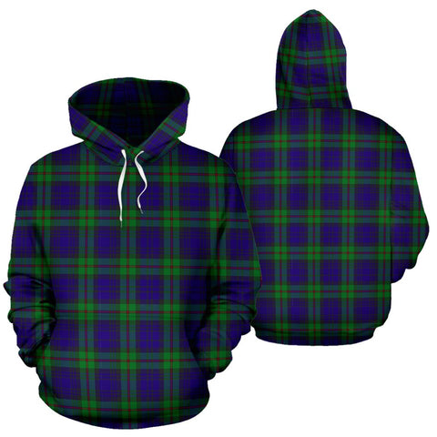 Image of Mackinlay Modern Tartan Hoodie, Scottish Mackinlay Modern Plaid Pullover Hoodie