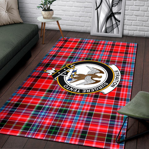Image of Straiton Clan Tartan Area Rug, Scottish Clans Tartan Area Rug, Scottish Rug, Scotland Area Rug