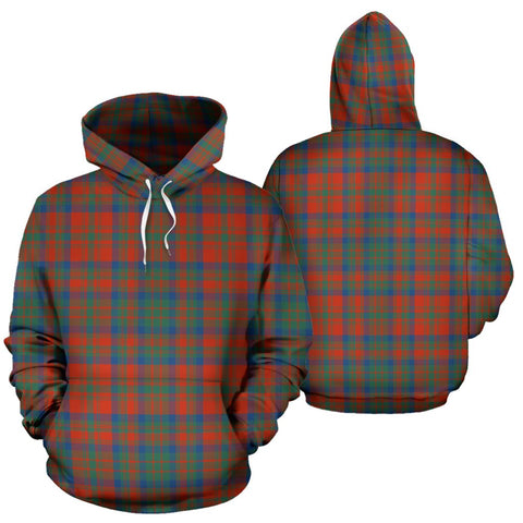 Matheson Ancient Tartan Hoodie, Scottish Matheson Ancient Plaid Pullover Hoodie