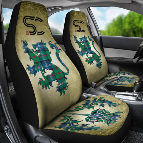 Urquhart Ancient Tartan Car Seat Cover Lion and Thistle Special Style TH8