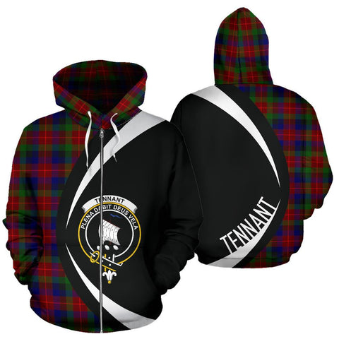 Image of Tennant Tartan Circle Zip Hoodie HJ4