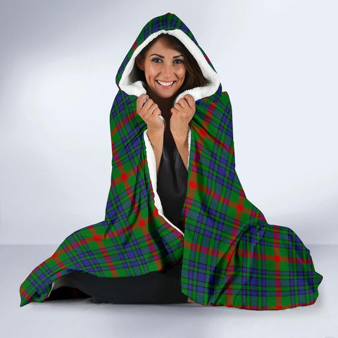 Image of Aiton Clans Tartan Hooded Blanket - BN