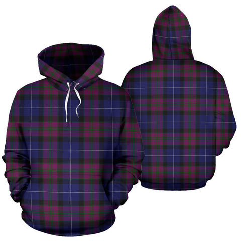 Pride Of Scotland Tartan Hoodie, Scottish Pride Of Scotland Plaid Pullover Hoodie