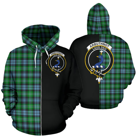 Arbuthnot Ancient Tartan Hoodie Half Of Me TH8