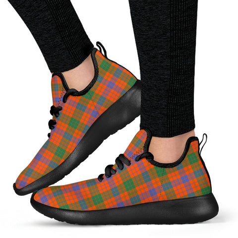 Image of Tartan Mesh Knit Sneakers - Ross Ancient