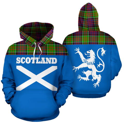 Tartan All Over Hoodie - Lion MacDonald of Clanranald