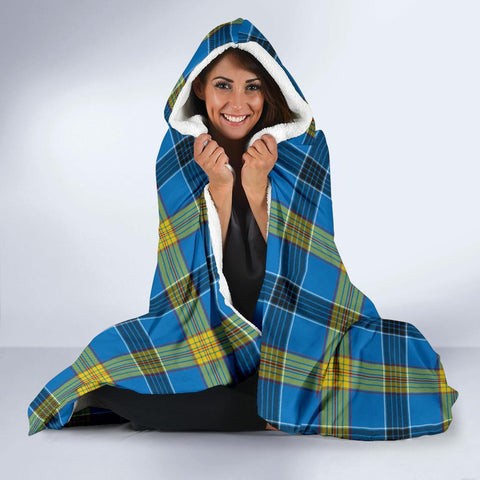 Image of Laing Clans Tartan Hooded Blanket - BN