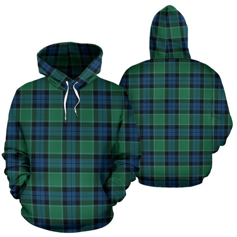 Graham Of Menteith Ancient Tartan Hoodie, Scottish Graham Of Menteith Ancient Plaid Pullover Hoodie