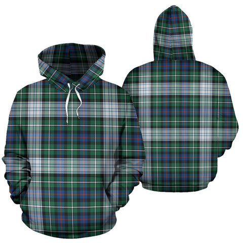 Mackenzie Dress Ancient Tartan Hoodie, Scottish Mackenzie Dress Ancient Plaid Pullover Hoodie