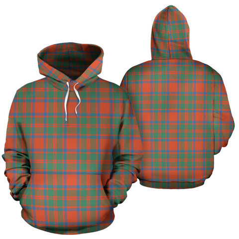 Mackintosh Ancient Tartan Hoodie, Scottish Mackintosh Ancient Plaid Pullover Hoodie