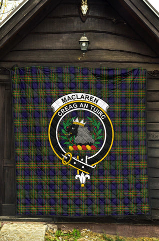MacLaren Modern Tartan Clan Badge Premium Quilt TH8