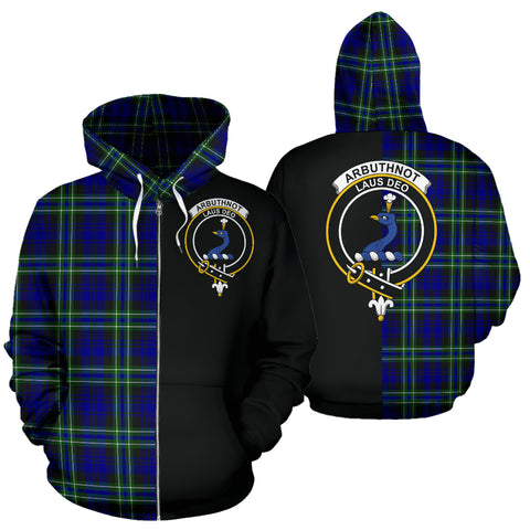 Image of Arbuthnot Modern Tartan Hoodie Half Of Me TH8