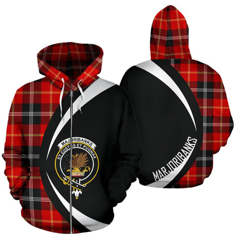 Image of Marjoribanks Tartan Circle Zip Hoodie HJ4
