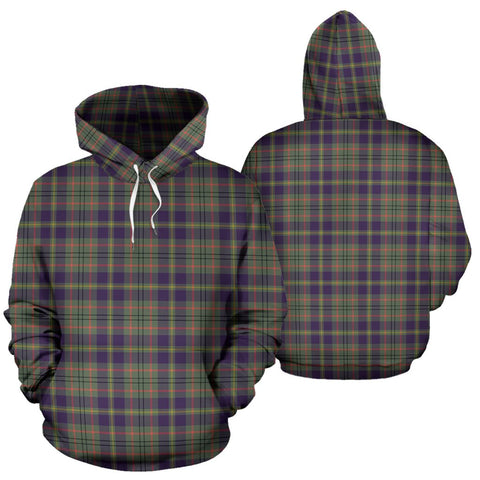 Taylor Weathered Tartan Hoodie, Scottish Taylor Weathered Plaid Pullover Hoodie